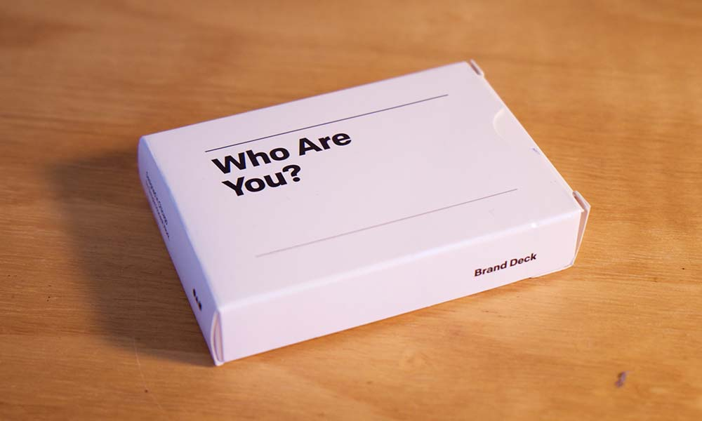 The brand deck brand personality cards.
